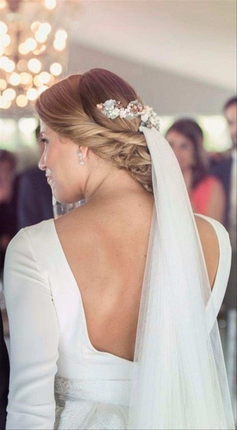 Exquisito peinados bajos Fotos de cortes de pelo estilo - Peinados para novias: 50 recogidos bajos espectaculares