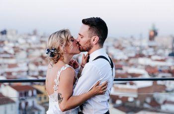 La boda de Iván y Marta: una promesa de amor definitiva en una azotea de Madrid