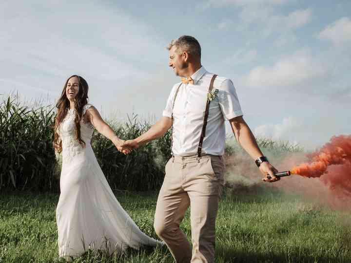 La boda de Manu y Paty: reinó el DIY entre familia