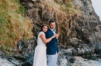 La boda de Carlos y Tama: un amor que comenzó compartiendo noches de verano