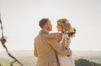 La boda de Cristina y Juanjo: la naturaleza como fuente de inspiración de su gran día