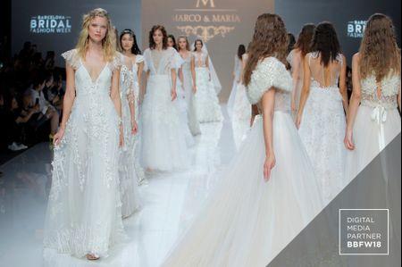 Vestidos de novia Marco&María 2019: poéticas creaciones bridal