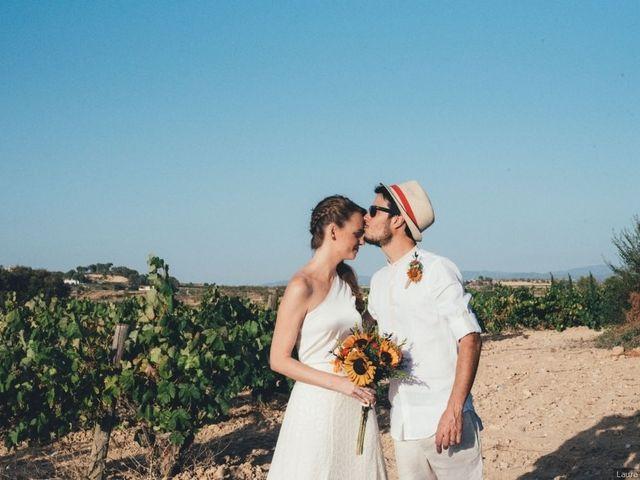 """La boda de Óscar y Marta: un """"sí, quiero"""" ¡lleno de color!"""