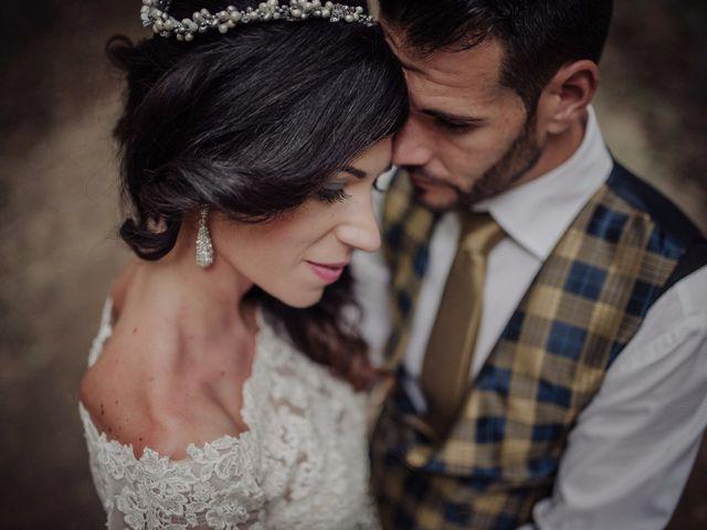 """La boda de Alicia y José: un """"sí, quiero"""" vestido de romanticismo y glamour"""