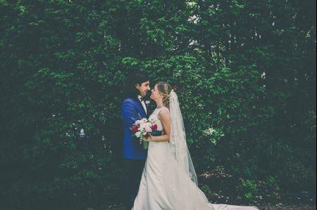 La boda de Cristina e Iván: un amor que unió la facultad