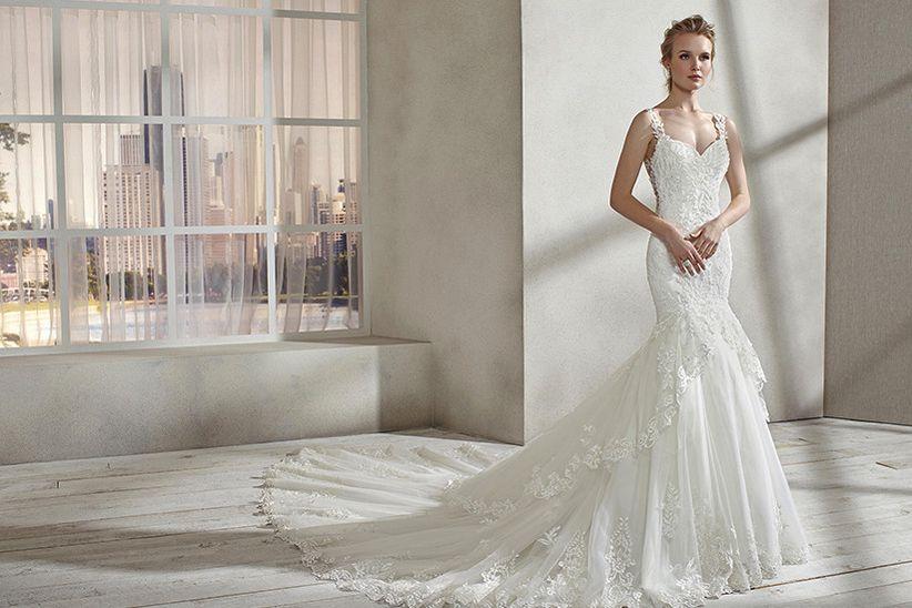 vestidos de novia miss kelly 2019: para novias muy románticas