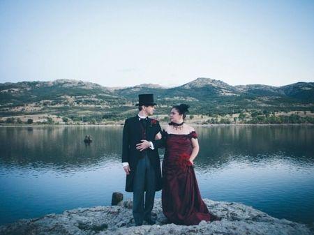 La boda de Antonio y Alicia: el estilo victoriano y el steampunk invaden un enlace único