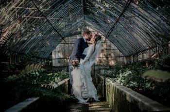 Elena y Enrique: ¡feliz matrimonio en un jardín botánico!