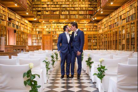 """La boda de Darío y Jordi: un romántico """"sí, quiero"""" en el castillo de Peralada"""