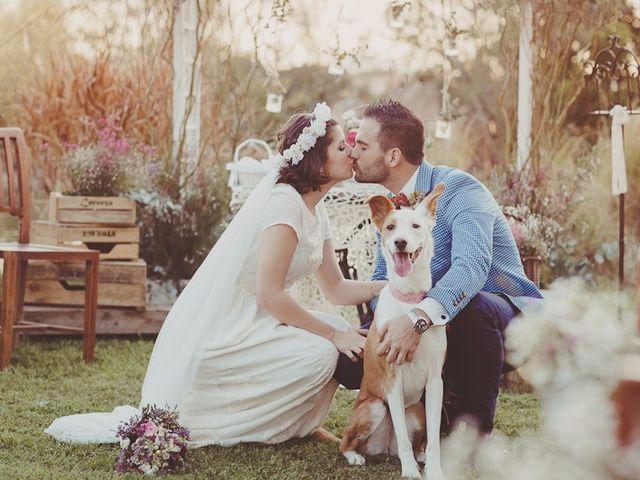 """La boda de Alberto y Cristina: un """"sí, quiero"""" repleto de detalles rústico chic"""