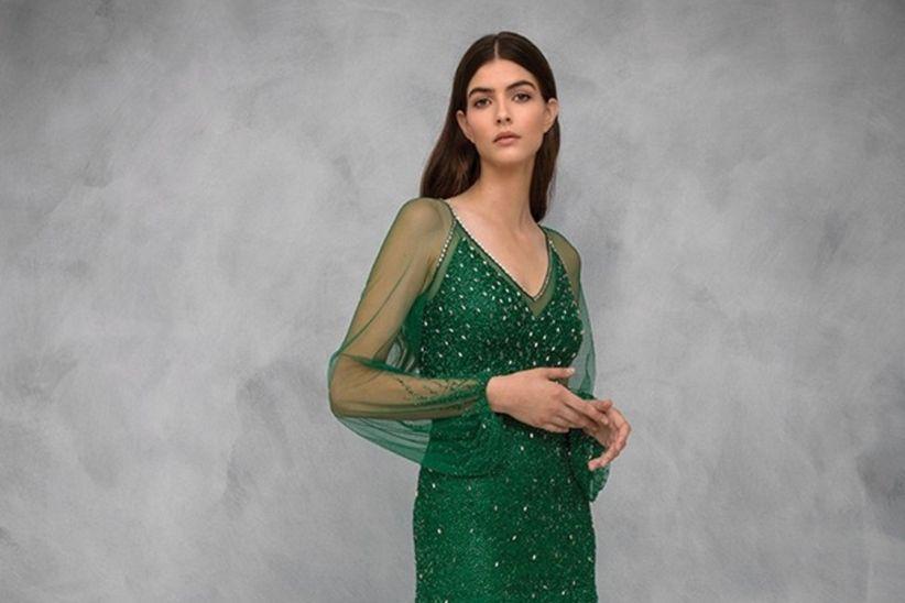22089b1a1 Vestidos verdes de fiesta  50 modelos para enamorar