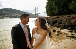 """La boda de Alexandra y Ángel: un mágico """"sí, quiero"""" a pie de playa"""