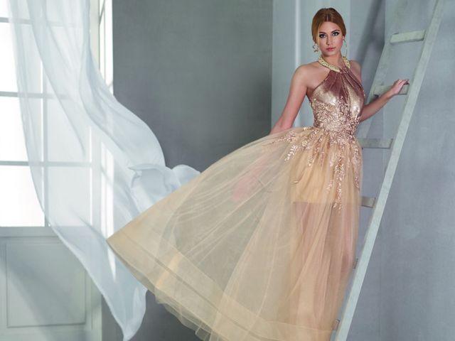 Vestidos de fiesta beige: 25 elegantes propuestas