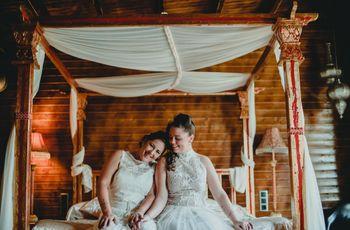 La boda de Débora y Ainoa: una exquisita fiesta blanca