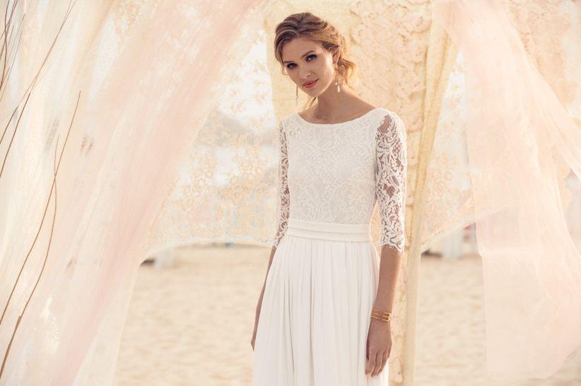5cb755886 40 vestidos de novia con manga francesa