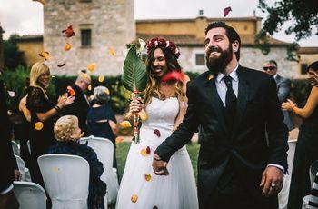 """La boda de Raquel y Dani: un """"sí, quiero"""" con sabor a rock and roll"""