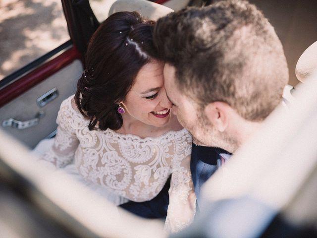 """La boda de Rocío y Alejandro: """"ni sintigo ni sin ti"""" como lema de su """"sí, quiero"""""""