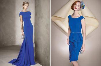 63 vestidos azules de fiesta que querrás lucir en las bodas