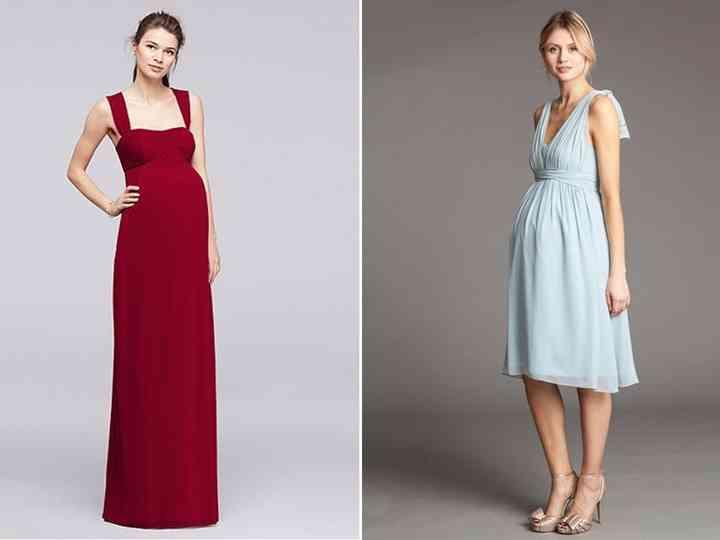 venta minorista 70b92 60953 30 vestidos de fiesta premamá para invitadas embarazadas
