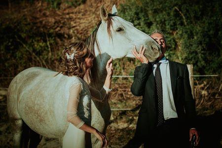 La boda de Raquel y José Manuel: los caballos como fieles testigos de su amor