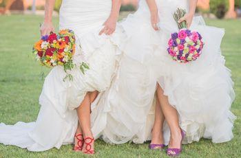 La boda de Carmen y Elena: un enlace donde el color y la familia fueron protagonistas