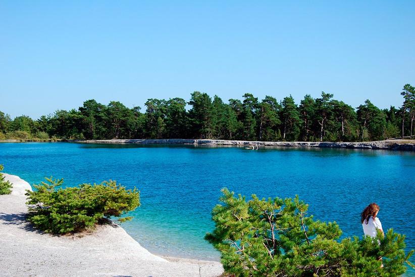 la Laguna Azul en la isla de Gotland