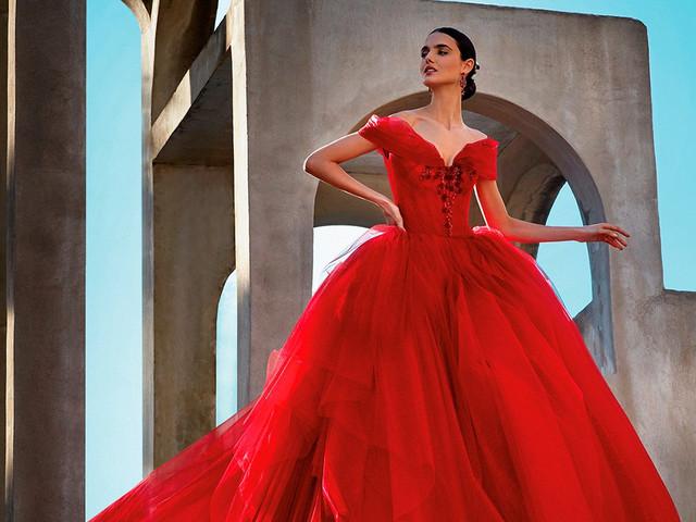 Vestidos de novia rojos: la opción perfecta para las más atrevidas