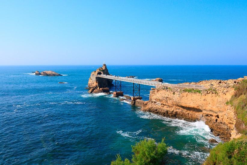 País Vasco francés, Biarritz, Roca de la Virgen