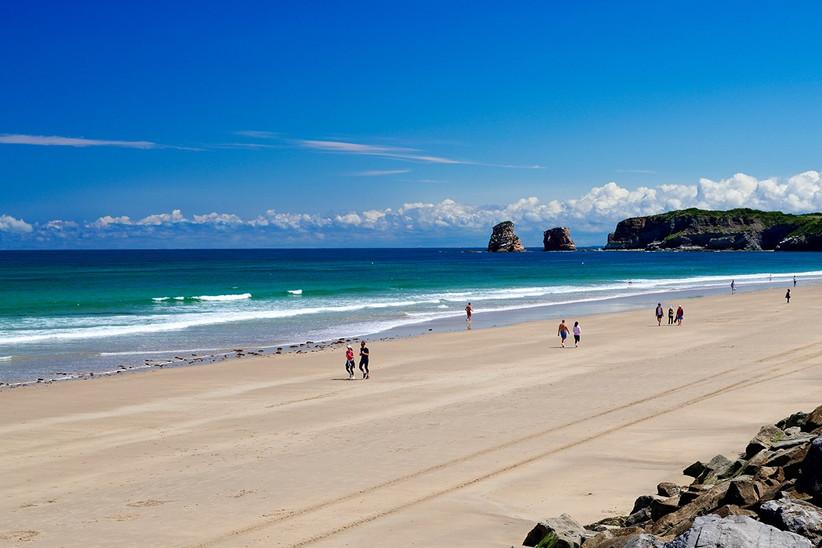 País Vasco francés, Hendaya, playa Ondarraitz