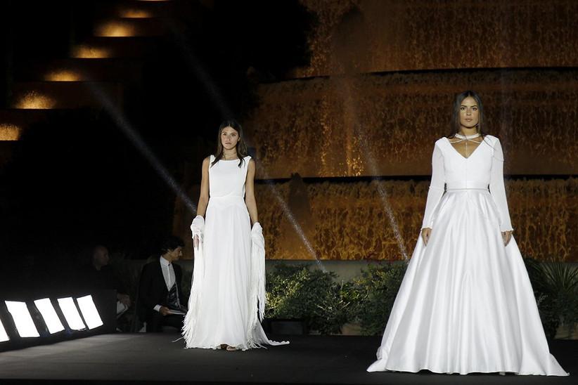 Vestidos de novia 2022 de Lorena Panea de líneas simples, sencillas y limpias ideal para el día de la boda
