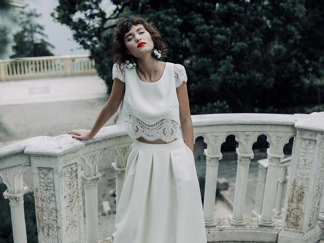 Vestidos de novia de dos piezas: ¡deslumbra como nunca!