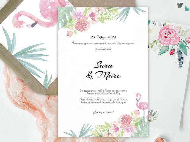 Invitaciones para una boda de primavera