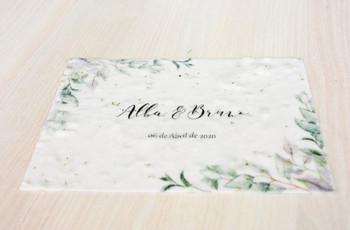 Invitaciones para bodas ecológicas