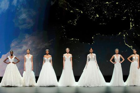 El encanto y la feminidad de los vestidos de novia Nicole Milano 2021 triunfan en la VBBFW