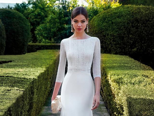 65 vestidos de novia con manga francesa: ¡amor a primera vista!