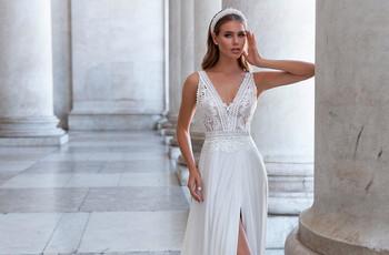 Vestidos de novia Monica Loretti 2021: feminidad y elegancia