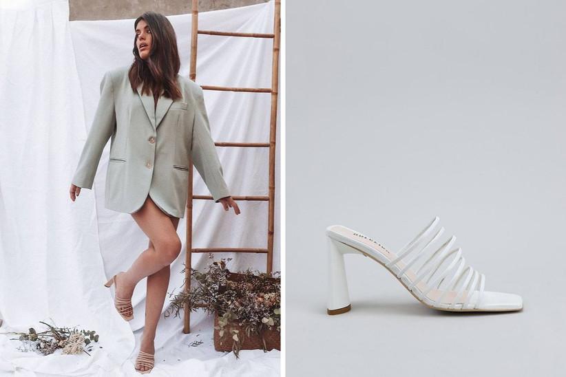 zapatos blancos Dulceida x Krack tiras blancas