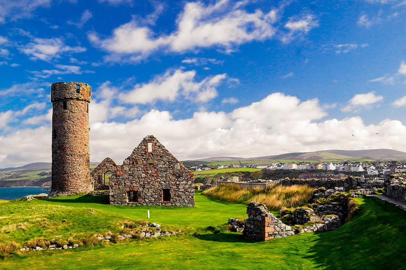 Luna de miel o viaje a la isla de Man, castillo de Peel