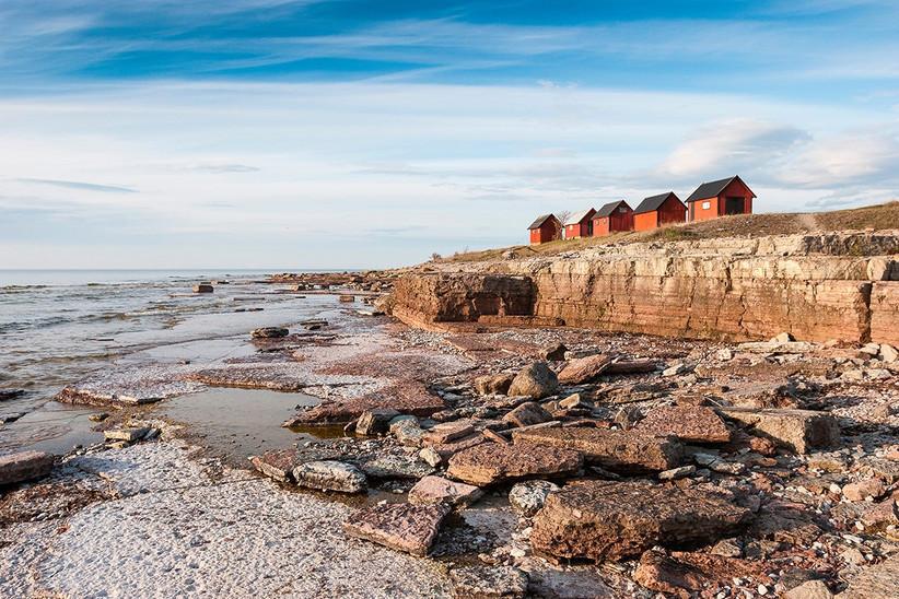 Isla de Gotland, pueblo pesquero