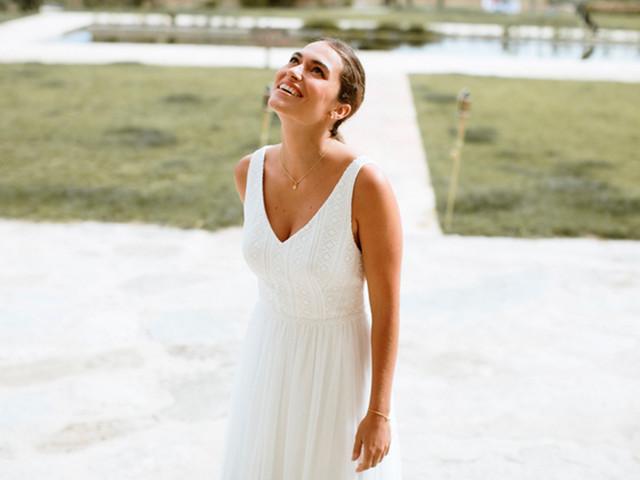 Descubre las nuevas propuestas de l'Avetis 2021: vestidos de novia a medio camino entre el estilo retro y el boho chic