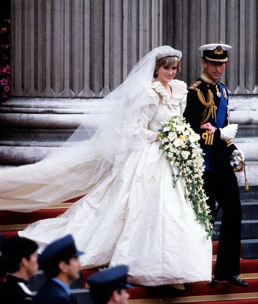 Boda de Carlos y Diana, ramo de novia Lady Di
