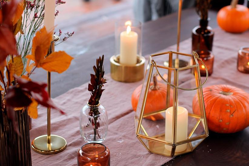 Variados elementos de Halloween para decorar bodas en Halloween
