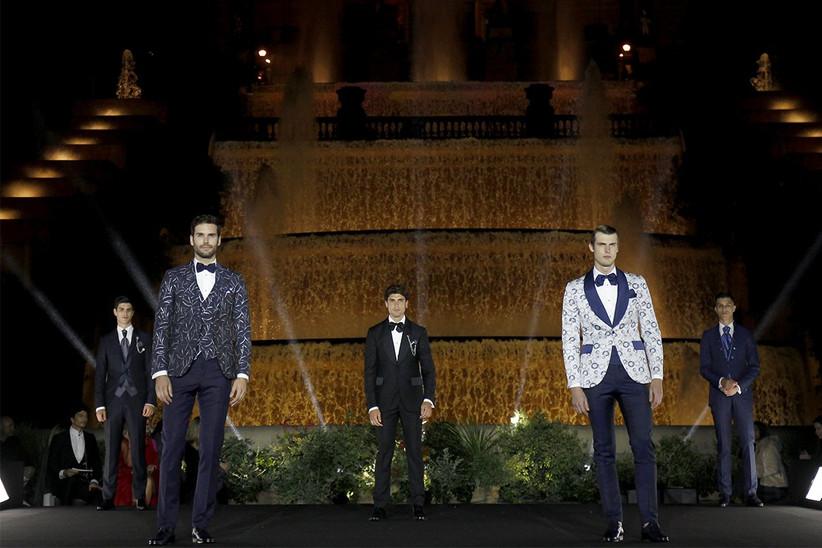 Trajes de novios de estilos diversos de Ramón Sanjurjo 2022 en la BBFW 21, ideales para el día de la boda