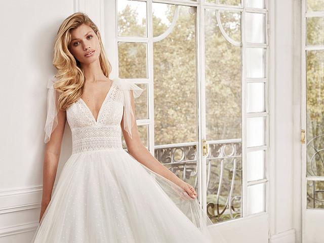 30 vestidos de novia 2020 con tul plumeti. ¡Enamorarás!