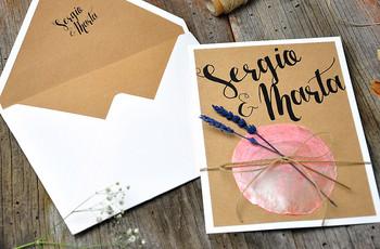 Invitaciones de boda 'vintage': 25 diseños llenos de encanto