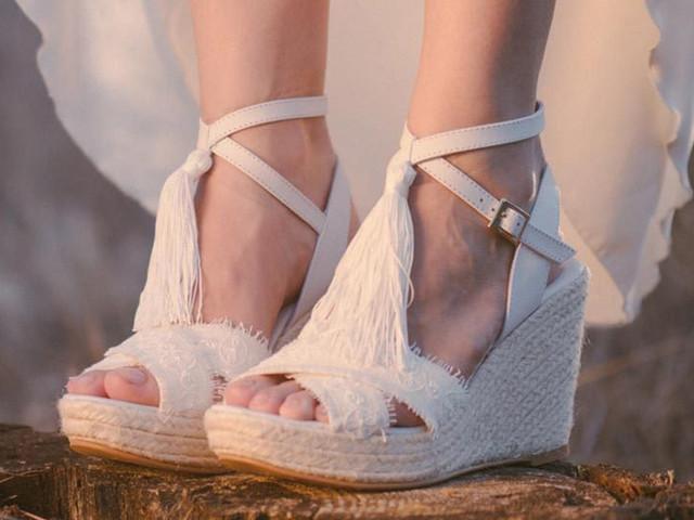 Alpargatas de novia: máximo confort