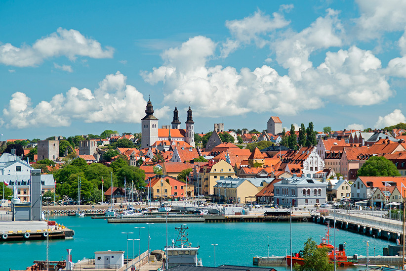Visby, capital de la isla de Gotland