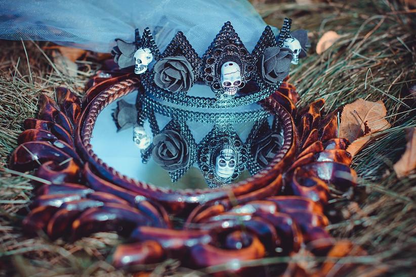Decoración de Halloween para el día de la boda: calaveras de Halloween