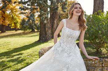 50 formas de lucir el escote cuadrado que todas las novias quieren llevar en su boda