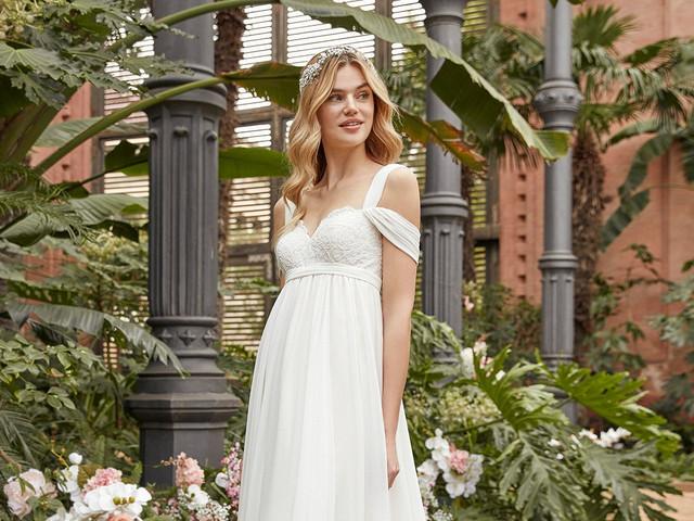 55 vestidos de novia de corte imperio. ¡Puro romanticismo!